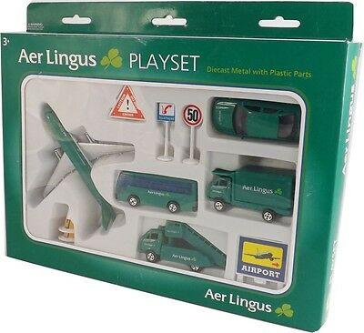 Aer Lingus AIRPORT PLAY SET with Model Aircraft New Irish Airline Gift AirLingus