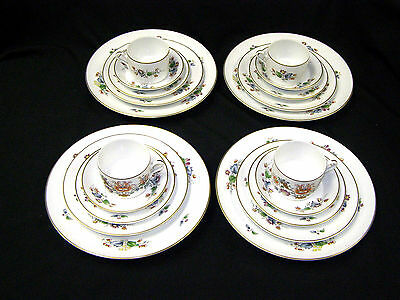 New Richard Ginori China Riviera 4 5 Pc Place Set Dinner Salad Bread Cup Saucer