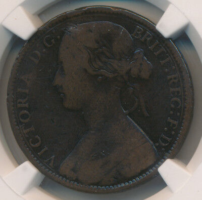 Great Britain Penny 1869 - NGC VG Details KEY DATE!