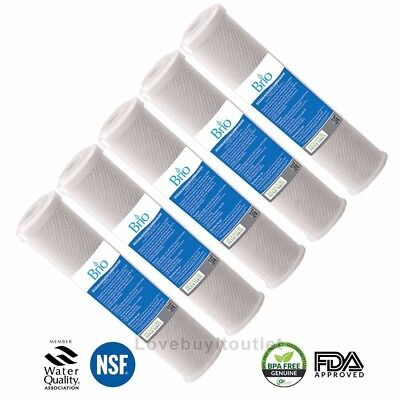 5 Pack Brio Water Carbon Block Coconut Shell Filter Cartridge Replacement NEW