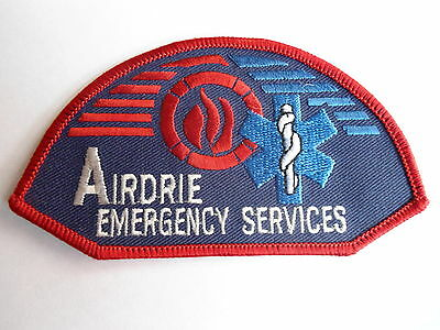 Airdrie Emergency Services Patch, Firefighting & Rescue, Alberta, Canada, Crest