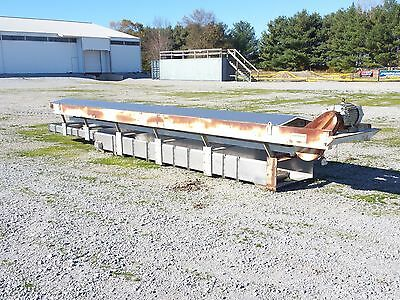 "11289 - Cardwell Vibrating Conveyor   30""W x 20'4""L Stainless Steel"