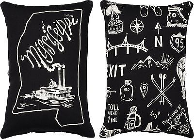 MISSISSIPPI Primitives by Kathy Double-Sided State Series Pillow