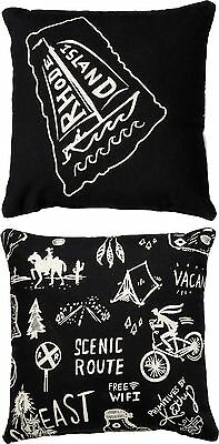 RHODE ISLAND Primitives by Kathy Double-Sided State Series Pillow
