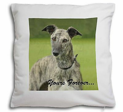 Greyhound Dog 'Yours Forever' Soft Velvet Feel Cushion Cover With I, AD-LU7y-CPW