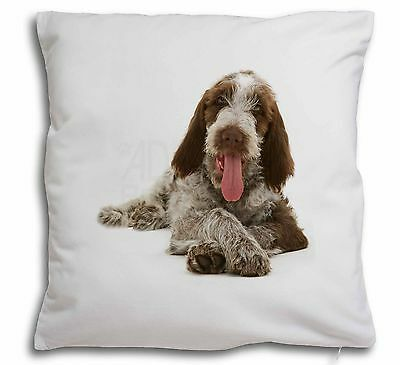 Italian Spinone Dog Soft Velvet Feel Cushion Cover With Inner Pillow, AD-SP2-CPW