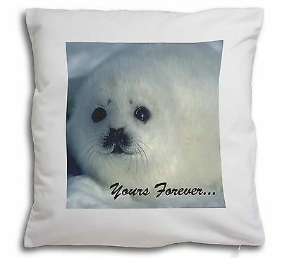 Snow Seal 'Yours Forever' Soft Velvet Feel Cushion Cover With Inner , AF-S14-CPW