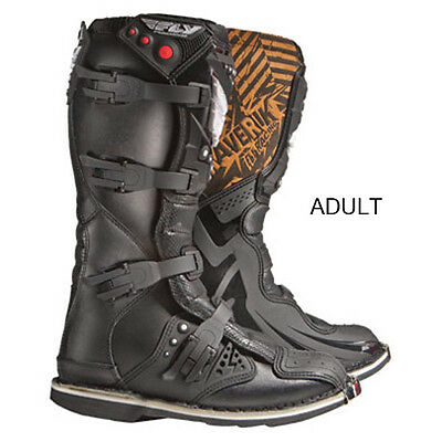 Fly Racing Black Mens & Youth Maverick MX Dirt Bike Boots MX ATV 2015