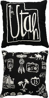 UTAH Primitives by Kathy Double-Sided State Series Pillow