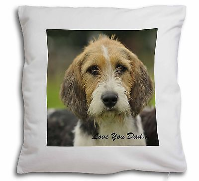 Fox Hound 'Love You Dad' Soft Velvet Feel Scatter Cushion Christmas , DAD-30-CPW