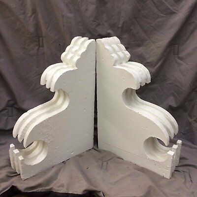 Pair Antique Corbels Shabby Cottage Vintage Chic 1920-16