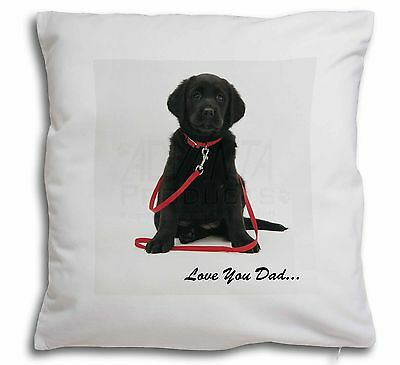 Goldador Dog 'Love You Dad' Soft Velvet Feel Scatter Cushion Christm, DAD-69-CPW