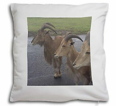 Three Cheeky Goats Soft Velvet Feel Cushion Cover With Inner Pillow, GOAT-2-CPW