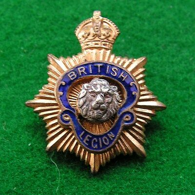 BRITISH LEGION VOLUNTEER POLICE FORCE GREATCOAT ENAMEL BADGE - extremely rare