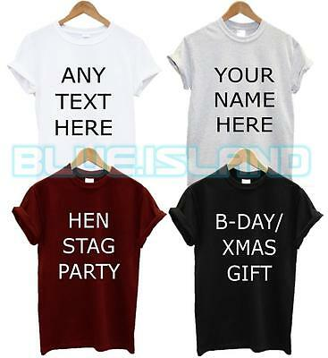 Custom Printed Personalised T Shirt Your Custom Text Stag Hen Party Gift Xmas