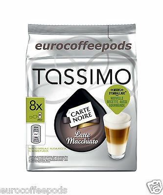 Tassimo Carte Noire Latte Coffee (2 Packs) 32 T-Discs 16 Servings