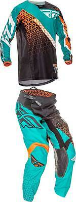 Fly Racing Kinetic Trifecta Combo Motocross Dirtbike MX Riding Gear Jersey Pant