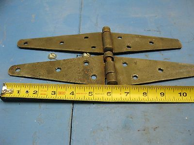 "2 ea.  Strap Hinges, 2 1/2"" wide by 12"" long (open)"
