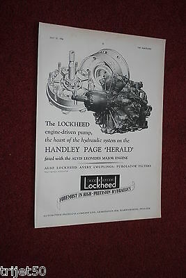Advert Lockheed Leamington Spa / Kenneth More Reach for the Sky Bader Film 1956