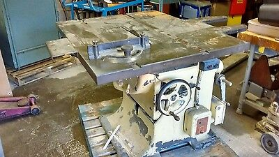 "TANNEWITZ 16"" TILTING ARBOR  5 HP TABLE SAW  1933 model"