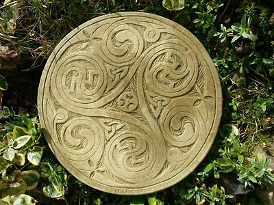 Stone Concrete Set Of Five Celtic Stepping Stones.
