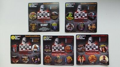 SDCC Comic Con Scream Factory Pin-Back Button EXCLUSIVES Carrie Childs Play