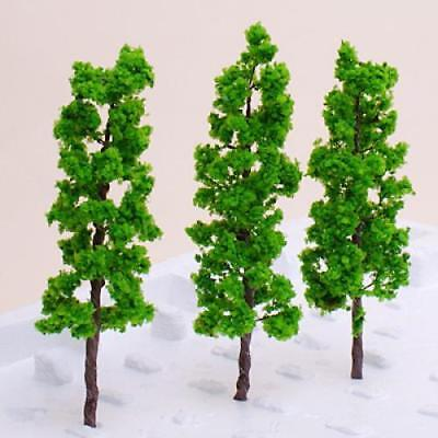 10 Model Pine Trees Train Railway Wargame Forest Diorama Scenery HO OO Scale