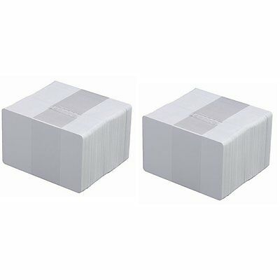 100 PVC Cards Blank White - CR80 .30 Mil, Credit Card size, ID Printer