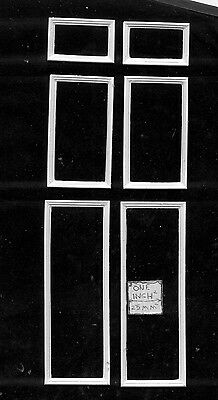 Wall Panel Set  UMWP1 dollhouse miniatures 1/12 scale polyresin frame 6pc 2 sets