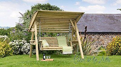 Wooden Garden Swing 2 & 3 Seat Chair Seat Hammock Bench Furniture Lounger 2 with