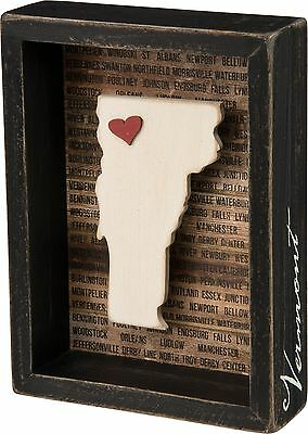 VERMONT Primitives by Kathy Favorite Place State Box Sign