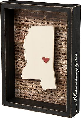 MISSISSIPPI Primitives by Kathy Favorite Place State Box Sign