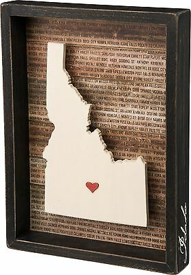 IDAHO Primitives by Kathy Favorite Place State Box Sign