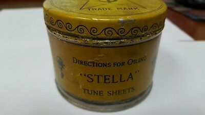 Antique Stella  Music Box Disc Grease/oil Can And Applicator