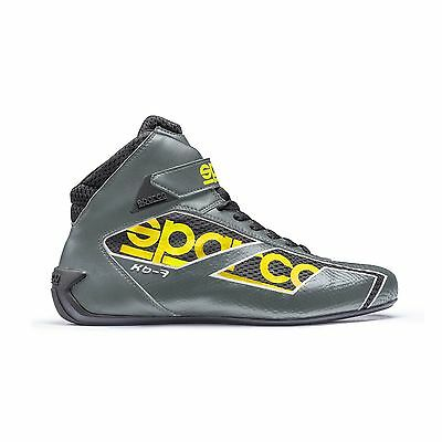 Sparco Shadow KB-7 Leather Karting/Go Kart Boots Grey/Yellow - UK 9.5/Eur 44