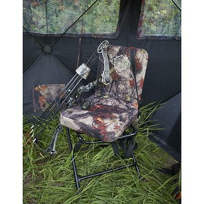 Hunting Gear 360 Swivel Hunters Camo Ground Blind Tree Stand Chair Seat Backrest