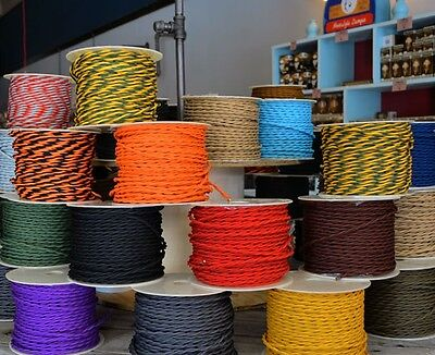 GOLDEN BRONZE  - Cloth Covered Twisted Electrical Wire 25 ft - Fabric wire