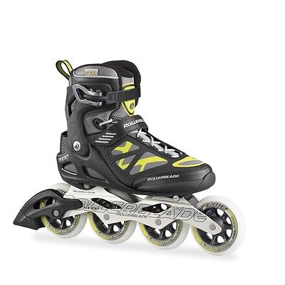 Rollerblade Macroblade 100 Mens Inline Skates Black Yellow SAVE £70 off RRP