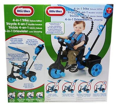 Little Tikes 4in1 Trike Deluxe Edition Neon Blue Dreirad Kinderrad 634338C NF260