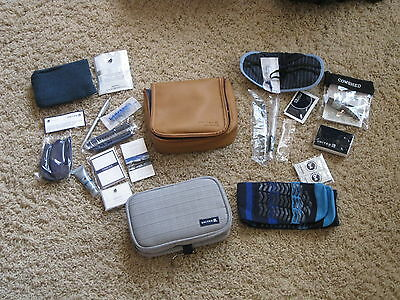 2 united airlines first class amenity kits businessfirst Cowshed essence aroma
