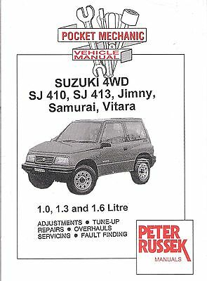 Suzuki SJ410 SJ413 Jimny Samurai Vitara Pocket Mechanic Manual 1.0 1.3 1.6 *NEW