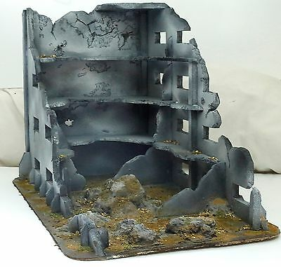 Ruined Building (Large) - 28mm - Wargaming Scenery/Terrain; WH40k & Bolt Action
