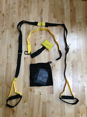 SUSPENSION STRAPS BODY TRAINER - Home Outdoor Fitness Gym Workout Crossfit MMA