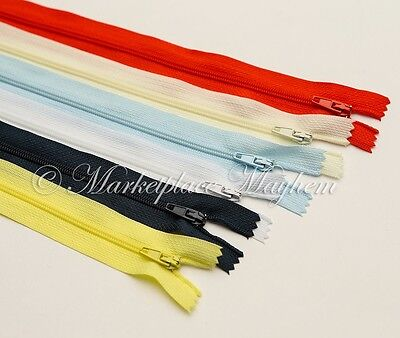 """CUSHION/DRESS/TROUSER/SKIRT ZIPS - CLOSED END -AUTOLOCK 4/5/6/7/8/9/10 up to 26"""""""