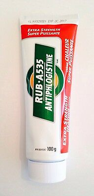 RUB A535 Extra Strength Heating Cream 100g #1 Dr Recommended - No Box