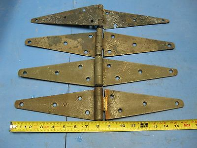 "4 ea.  Vintage Strap Hinges, 3"" wide by 16"" long (open)"