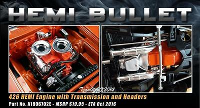 Acme A1806702E Hemi Engine With Transmission And Headers 1:18 New!!