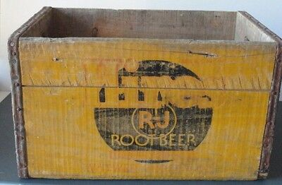 Hires Root Beer Wood Crate Vtg  Antique Soda Distressed  Witwer Grocer C R IA. ?