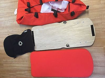 BRAND NEW Bugaboo Cameleon 3 Bassinet Orange Baby Bed + Wooden Board + Mattress