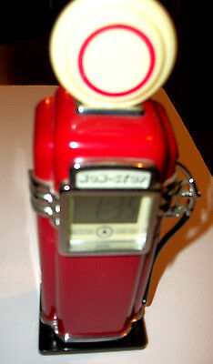 Miniature Vintage Gas Pump Nightlite And Clock used for display only adult owned